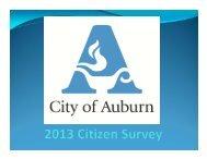 Survey Presentation - City of Auburn