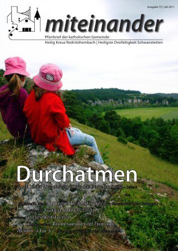 Pfarrbrief Juli 2011, Ausgabe 75 - Katholische Pfarrei ...