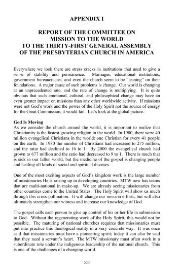 Minutes of the Thirty-First General Assembly of the Presbyterian ...