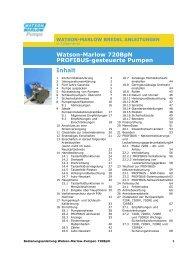 Watson-Marlow 720BpN PROFIBUS-gesteuerte Pumpen (DE)