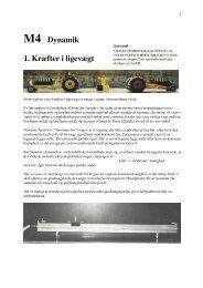 M4 Dynamik 1. Kræfter i ligevægt