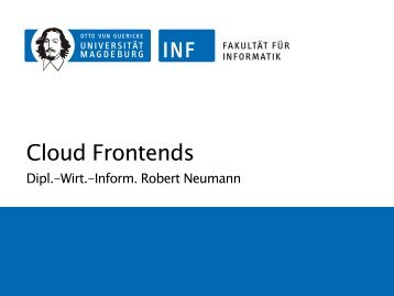 3 Cloud Frontends