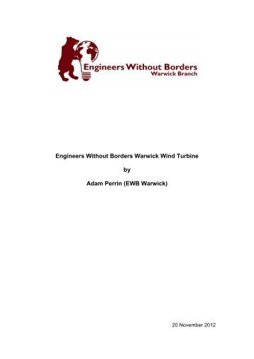 Warwick Wind Turbine Build Report.pdf - Engineers Without Borders ...