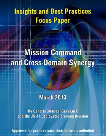 Mission Command and Cross-domain Synergy - Defense Technical ...
