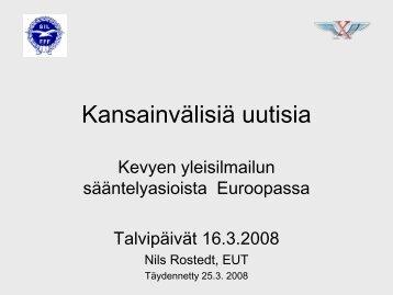 Kansainväliset uutiset - Suomen Ilmailuliitto