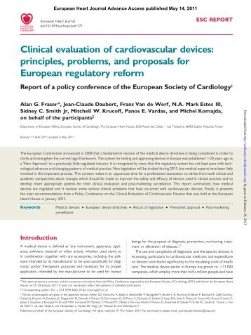 ESC Position on Medical Devices - Cardiovascular Round Table ...