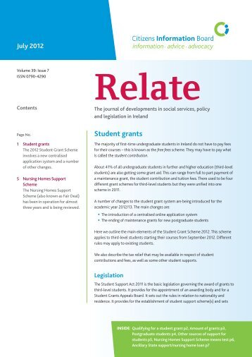 Relate July 2012 (pdf) - Citizens Information Board