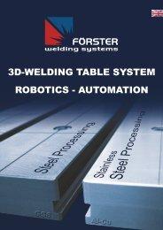 robotics - automation 3d-welding table system - omnisud.ro