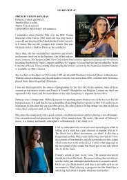 CD Review 47 Jennifer Pike: French Violin Sonatas - Dr David Wright