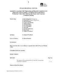 Engineering and Hazards - Otago Regional Council