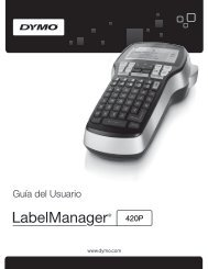 LabelManager 420P User Guide - DYMO
