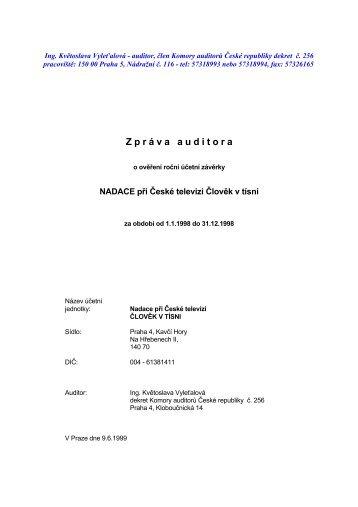 Audit 1998 - Člověk v tísni