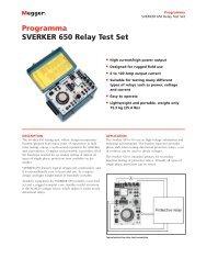 Programma SVERKER 650 Relay Test Set - Surgetek