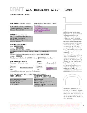 Performance bond dual obligee contractor hud for Performance bond template