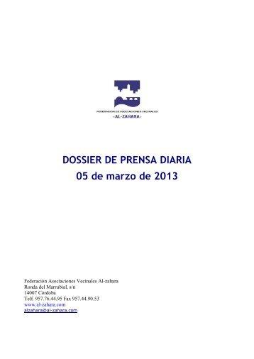 DOSSIER DE PRENSA DIARIA 05 de marzo de 2013 - ISOTools