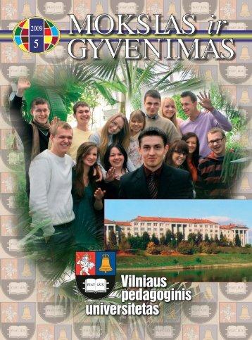 Mokslas ir gyvenimas 2009 Nr. 5 1 - Vilniaus universitetas