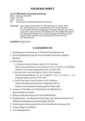 NIEDERSCHIRFT - Fieberbrunn