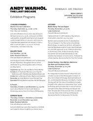 Exhibition Programs - Milwaukee Art Museum