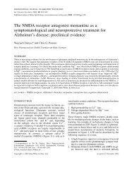 The NMDA receptor antagonist memantine as a ... - ResearchGate
