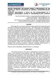 Gestão Financeira - um estudo sobre a implantação ... - unisalesiano