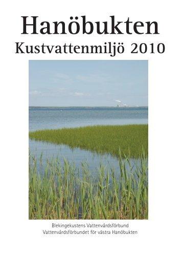 Hanöbukten, Kustvattenmiljö 2010. - Kristianstads Vattenrike