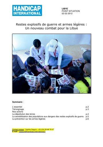 Lire le point de situation - Handicap International