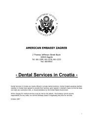 Dental Services in Croatia - Embassy of the United States Zagreb ...