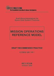 Mission Operations Reference Model. Draft ... - CCSDS