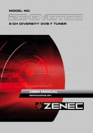 2-CH DIVERSITY DVB-T TUNER MODEL N0: USER MANUAL - Zenec