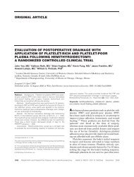 Evaluation of postoperative drainage with application of platelet‐rich ...