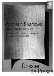 Acoustic Shadows - Université de Rennes 1