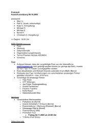 Protokoll Ausschusssitzung 08.10.2005 anwesend - Firestones ...