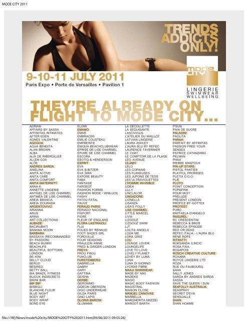MODE CITY 2011 - Lingerie Buyer