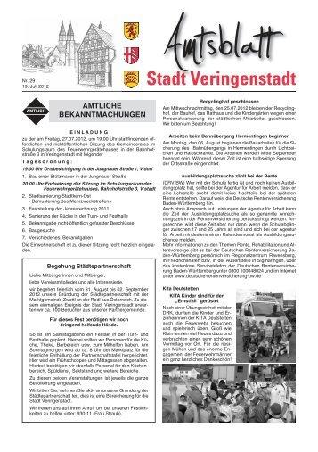 nächste Amtsblatt - Veringenstadt