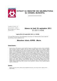 Délibération 2011/499 - Bordeaux