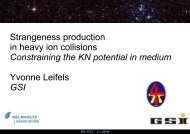 Strangeness production and propagation at sub ... - Cyclotron Institute