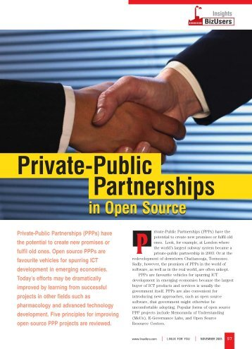 Private-Public Partnerships - LINUX For You