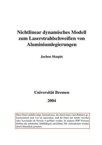 Nichtlinear dynamisches Modell zum ... - im KN-Bremen