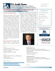 0113Newsletter - The Institute of Internal Auditors