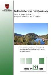 Kulturhistoriske registreringar Rapport 27 2008