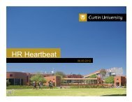 HR Heartbeat - Human Resources - Curtin University
