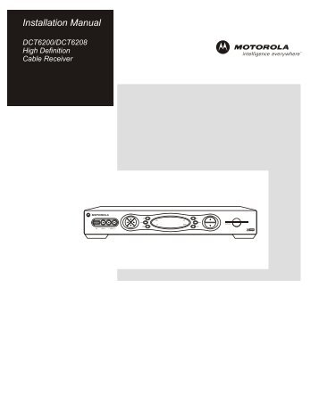 Motorola Cable Box Dct6416 Manual - Ultimate User Guide •