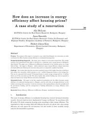 How does an increase in energy efficiency affect housing prices? A ...