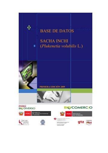 SACHA INCHI - Biblioteca Virtual de la Cooperación Internacional