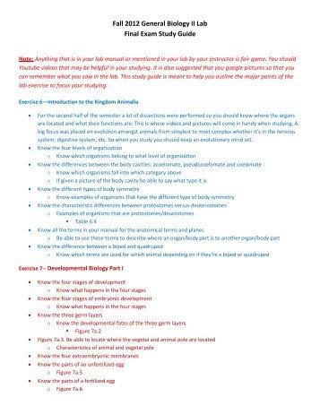eggo magazines rh yumpu com Biology Final Exam Study Guide Worksheet biology final exam study guide 2012 answers