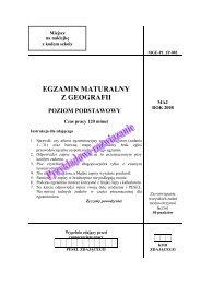 egzamin maturalny z geografii poziom podstawowy - Gazeta.pl