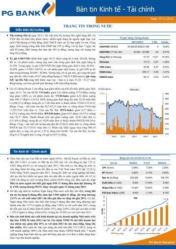 Bản tin Kinh tế - Tài chính - Ngân Hàng TMCP Xăng Dầu Petrolimex
