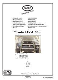 Toyota RAV 4 03Â¥ - Cobra-SOR