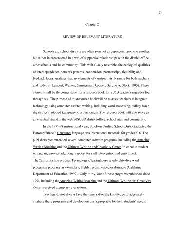 literature review sample