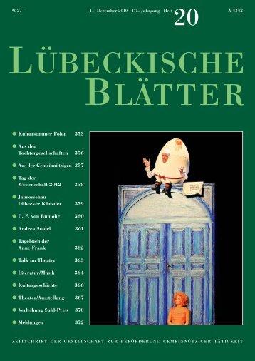 20_LB175.pdf [1.51MB] - Lübeckische Blätter